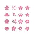 Cherry pink flower spring sakura blossom vector image vector image