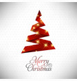 christmas card with pattern and tree vector image vector image