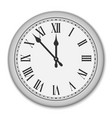 clock face with roman numerals vector image vector image