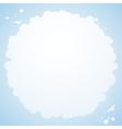 cloud cirular border background vector image vector image
