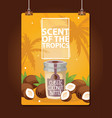 coconut tropical organic food nutrition vector image