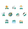 Colored icons for car insurance vector image vector image