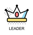 crown icon for leader on white background
