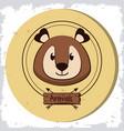 cute bear head cartoon vector image