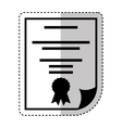 diploma document isolated icon vector image vector image