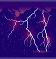 downpour with thunderstorm vector image vector image