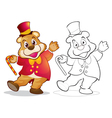 Fantasy mascot bear cartoon vector image