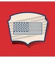 Flag of vote inside frame design vector image vector image