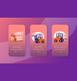 freight shipping delivery and logistics mobile vector image
