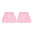 front and back view of a flared skirt vector image vector image