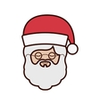 front face santa claus with christmas hat vector image