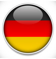 germany flag icon badge with glossy effect and vector image