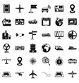 global icons set simple style vector image vector image