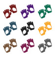 gym gloves icon in black style isolated on white vector image