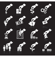Hand concept icons white
