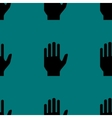hand web iconflat design Seamless pattern vector image