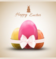 happy easter egg icons set vector image vector image