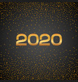 happy new year 2020 luxury golden poster vip gold vector image
