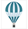 hot air balloon isolated icon vector image vector image
