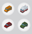 isometric automobile set of car first-aid vector image vector image