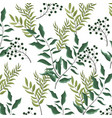 leaves nature background vector image vector image