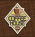 logo for coffee house vector image