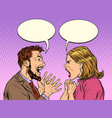 man and woman dispute emotions scream vector image vector image