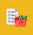 man made a shopping list for store a grocery vector image vector image