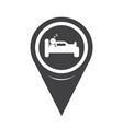 map pointer sleep hotel icon vector image