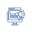 marketing campaign line icon concept marketing vector image vector image