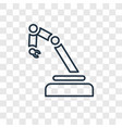 mechanical arm concept linear icon isolated on vector image