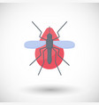 mosquito and blood flat icon vector image vector image