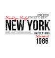 new york sport typography vector image vector image