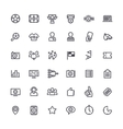 Outline Icons on the Theme of Soccer vector image vector image