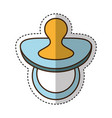 pacifier baby isolated icon vector image