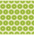 pattern with pieces of kiwi vector image