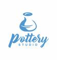 pottery studio logo design vector image vector image