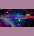 realistic and futuristic space background vector image vector image