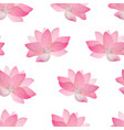 realistic detailed pink lotus flower background vector image