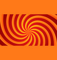 red and yellow spiral swirl radial background vector image