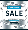 sale banner template cyber monday design vector image