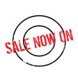 sale now on rubber stamp vector image vector image