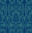 Seamless blue abstract striped floral pattern vector image vector image