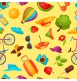 Seamless pattern with stylized summer objects vector image vector image