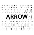 set black arrows arrow icon arrow vector image vector image