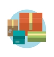Set of colorful gift boxes with ribbons in flat vector image vector image