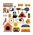 set of pets accessories isolated on white vector image vector image