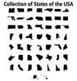 set us states maps vector image