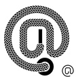 shoe lace email symbol vector image vector image