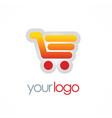 shopping cart sale logo vector image